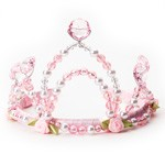 Pink Rose and Pearl Tiara