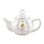 Girl's Porcelain Ballerina Tea Set with Basket