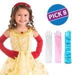 Long Princess Gloves Party Pack of 8