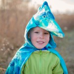 Blue Pterodactyl Cape with Hood