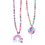 Rainbow and Lollipop Necklace Duo