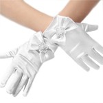Short White Princess Gloves