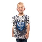 Silver and Blue Knight Tunic