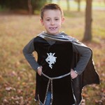Deluxe Silver Knight Tunic with Cape