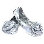 Silver Rose Princess Flats