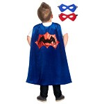 Blue Spider Cape and Mask Set