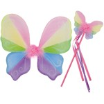 Spring Butterfly Wand and Wings Set