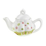Child's Porcelain Sprinkles Tea Set with Basket