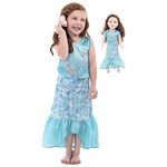 Under the Sea Mermaid Child and Doll Dress Set