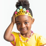 Fancy Nancy Tiara with Clip-on Earrings