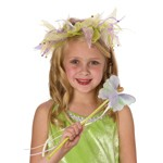 Green Tinkerbell Fairy Halo and Wand Set