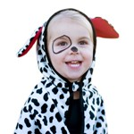 Toddler Dalmation Puppy Dog Cape with Hood