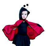 Toddler Ladybug Girl Cape with Hood
