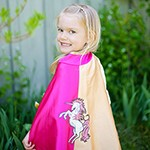 Pink and Gold Unicorn Cape
