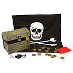 Wooden Pirate Chest with Loot