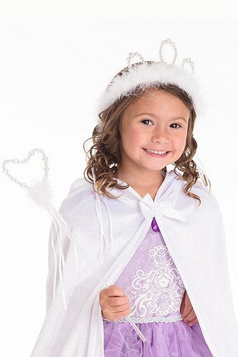 White Princess Tiara and Wand Set
